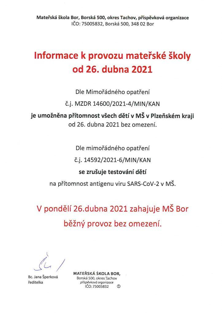 Provoz MS od 26.4.2021 1