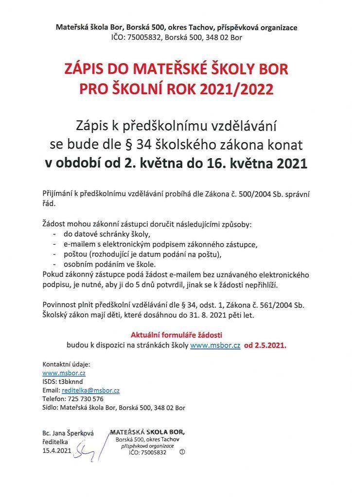 zapis 2021 2022